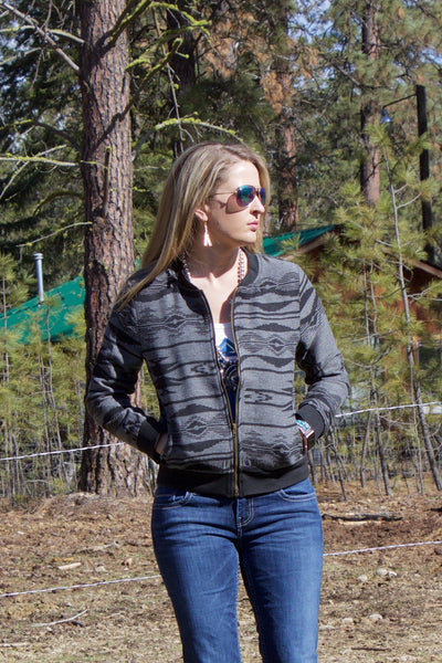 The Elk Street Bomber Jacket - Saddles & Lace - New western and southwest inspired clothing, bags, and accessories for women