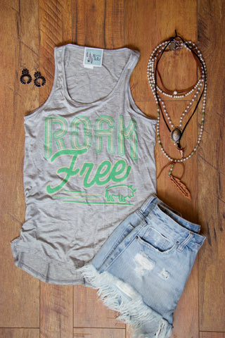 Roam Free Graphic Tank Top - Saddles & Lace Boutique - Western and boho inspired clothing, bags, and accessories for women