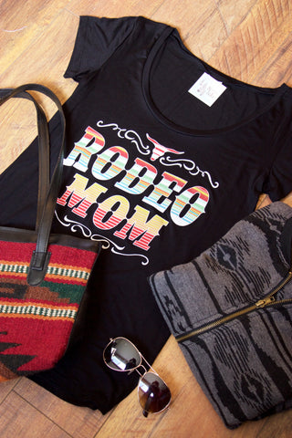 Rodeo Mom Graphic Tee Shirt - Saddles & Lace Boutique - Western and boho inspired clothing, bags, and accessories for women
