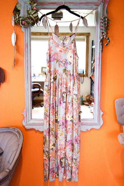 The Santa Clara Floral Maxi Dress with Pockets - Saddles & Lace - New western and southwest inspired clothing, bags, and accessories for women