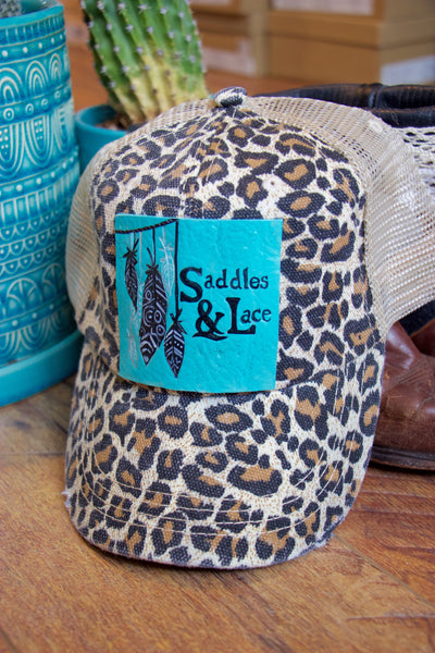 Saddles & Lace Trucker Hat - Cheetah - Saddles & Lace Boutique - Western and boho inspired clothing, bags, and accessories for women