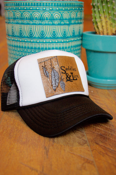 Saddles & Lace Trucker Hat - Saddles & Lace Boutique - Western and boho inspired clothing, bags, and accessories for women