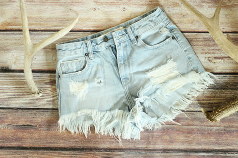 Ultimate High Waisted Denim Shorts - Light Wash - Saddles & Lace Boutique - Western and boho inspired clothing, bags, and accessories for women