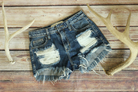 Ultimate High Waisted Denim Shorts - Dark Wash - Saddles & Lace Boutique - Western and boho inspired clothing, bags, and accessories for women
