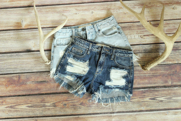Ultimate High Waisted Denim Shorts - Light Wash