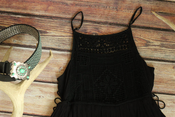 Lightweight Black Knit Dress - Saddles & Lace - New western and southwest inspired clothing, bags, and accessories for women