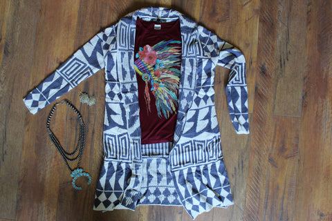 The Standing Bear - Pendleton Inspired Knit Cardigan