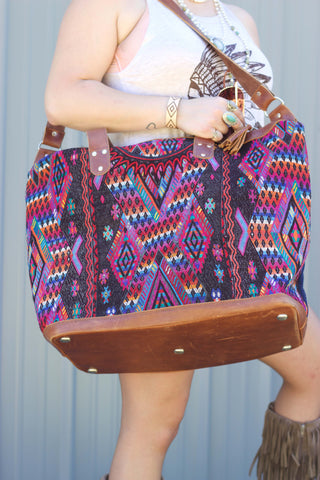 Large Humanity Bag - Weekender - Saddles & Lace - New western and southwest inspired clothing, bags, and accessories for women