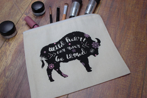Wild Hearts Buffalo  - Makeup Pouch