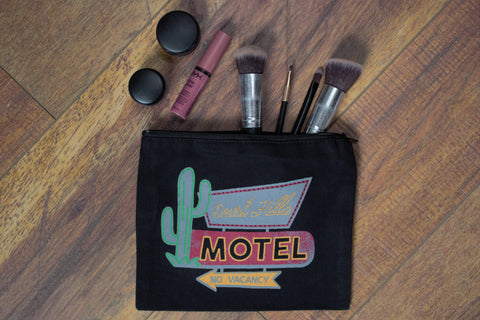 Desert Hills Motel - Makeup Pouch - Saddles & Lace Boutique - Western and boho inspired clothing, bags, and accessories for women