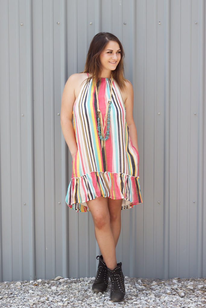 The Sunshine Dress - Saddles & Lace Boutique - Western and boho inspired clothing, bags, and accessories for women