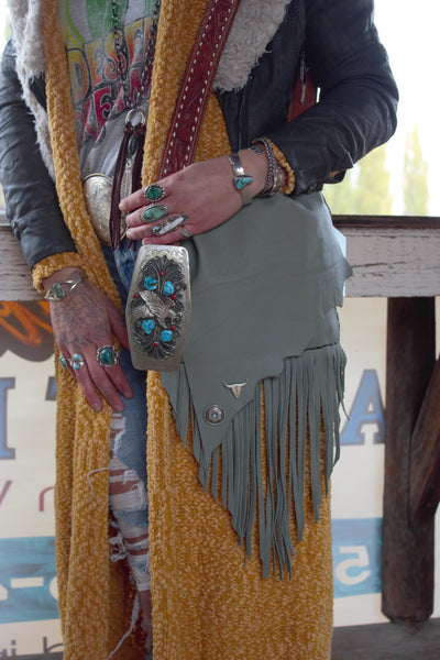The Cool Blue - Never Ending Threads Mint Messenger Bag - Saddles & Lace - New western and southwest inspired clothing, bags, and accessories for women