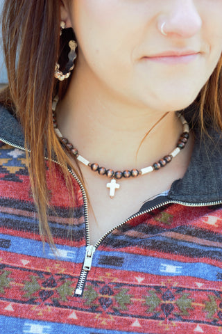 The Crossed in Copper Choker Necklace