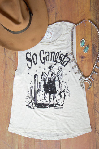 So Gangsta- Vintage Tank Top