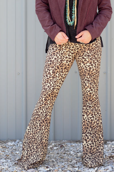 Leopard Fire -  Bell Bottoms - Saddles & Lace - New western and southwest inspired clothing, bags, and accessories for women