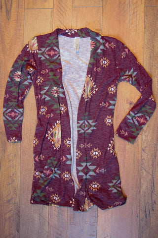 The Burgundy Ranch Cardigan