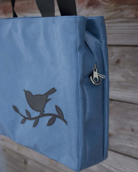 Bird Blue Day Media Bag - Saddles & Lace - Purses & Bags - 2