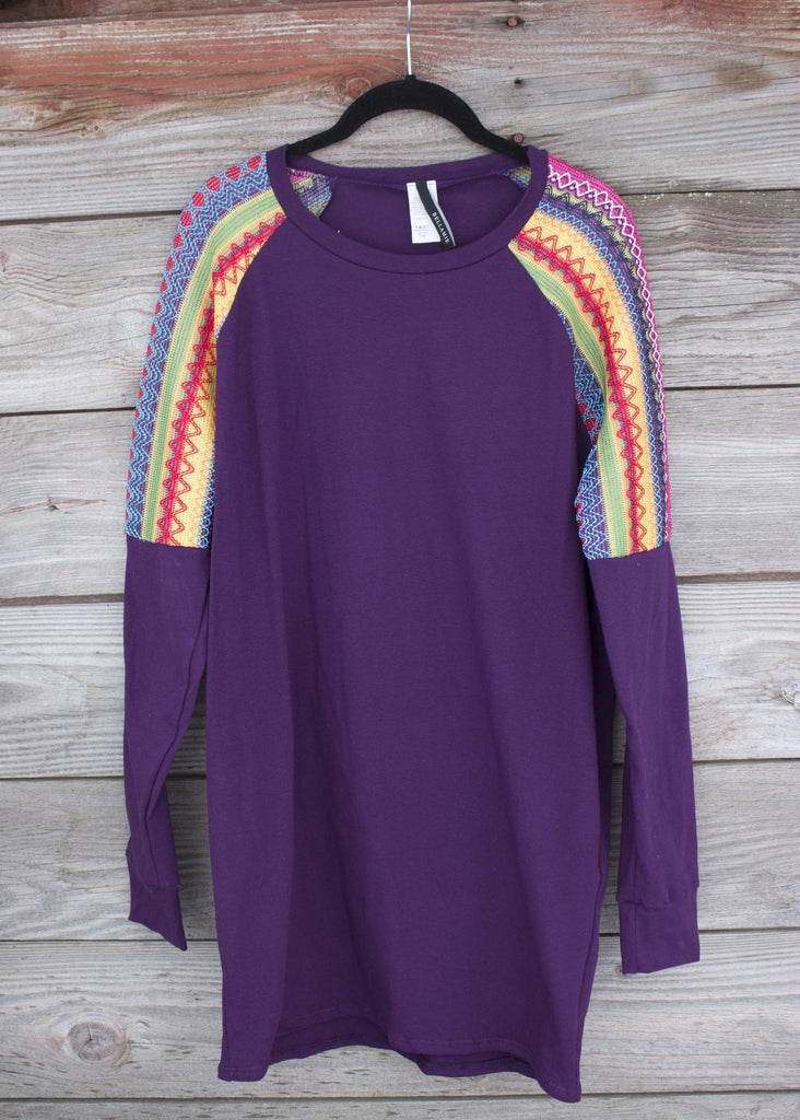 Rich Violet Tunic - Saddles & Lace - Blouses - 1