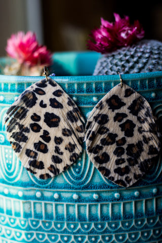 Cheetah Love Faux Suede Earrings - Saddles & Lace - New western and southwest inspired clothing, bags, and accessories for women