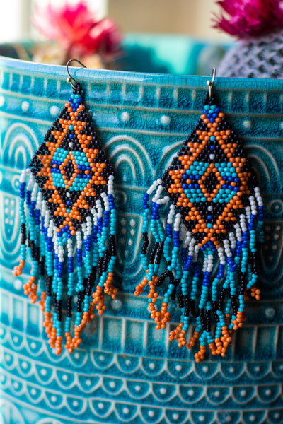 Little Spokane Beaded Earrings - Saddles & Lace Boutique - Western and boho inspired clothing, bags, and accessories for women