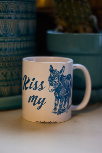 Kiss My A$$ Coffee Mug - Saddles & Lace Boutique - Western and boho inspired clothing, bags, and accessories for women