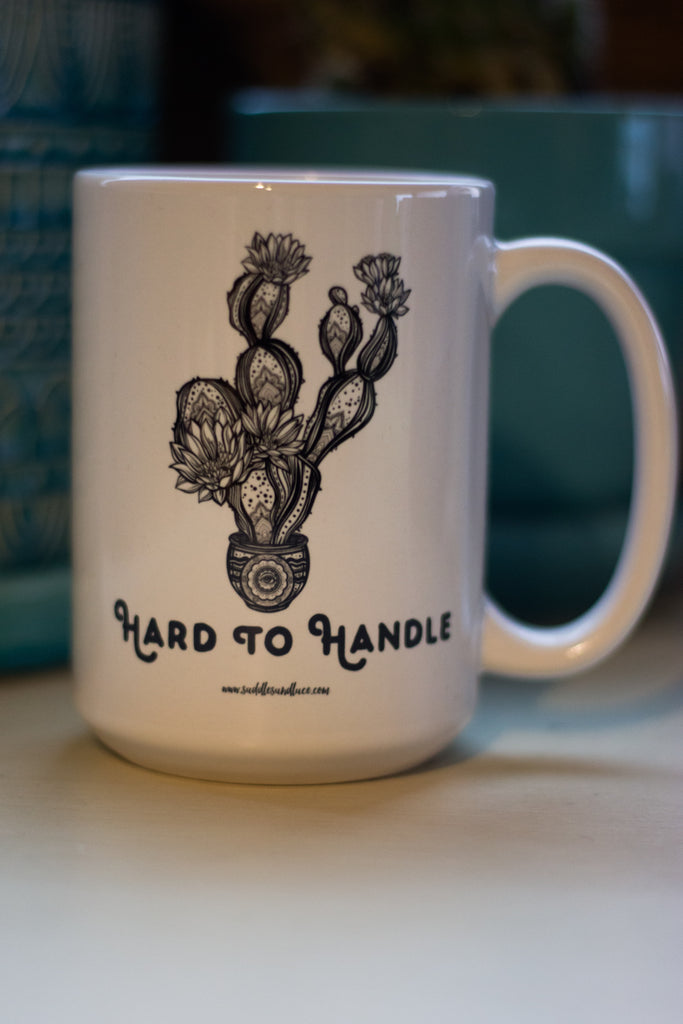Hard To Handle Cactus Coffee Mug - Saddles & Lace Boutique - Western and boho inspired clothing, bags, and accessories for women