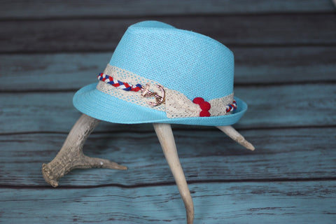 Let's Sail Away Fedora - Saddles & Lace - New western and southwest inspired clothing, bags, and accessories for women