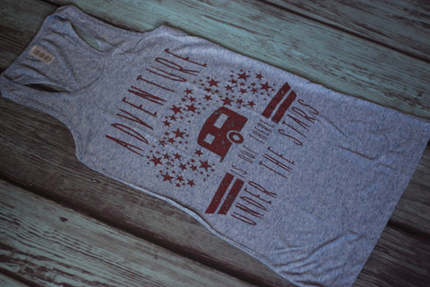 Adventure Is Out There - Tank Top - Saddles & Lace - Tees, Tanks, & Hoodies