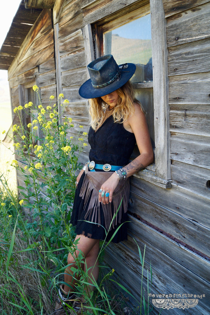 Freely Laced - Black Lace Dress - Saddles & Lace - New western and southwest inspired clothing, bags, and accessories for women