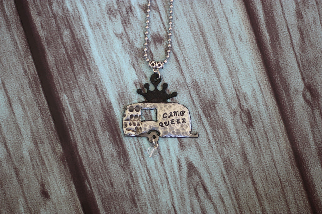 Camp Queen Vintage Trailer Necklace - Saddles & Lace - New western and southwest inspired clothing, bags, and accessories for women