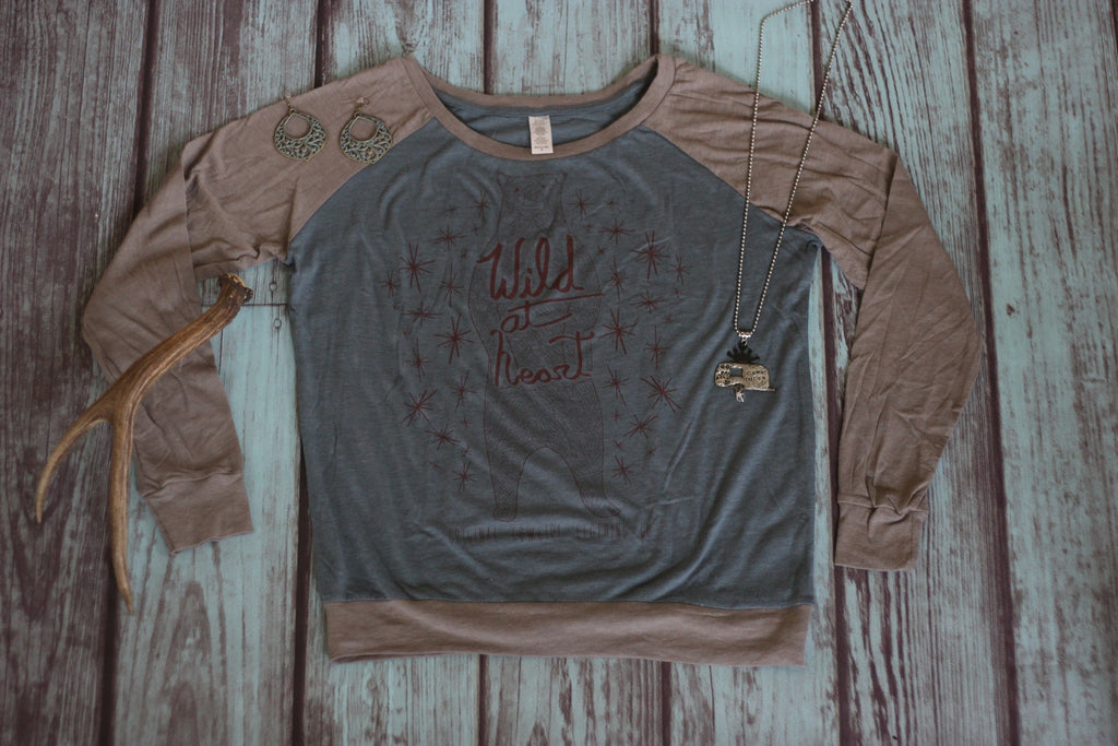 Wild At Heart Baseball Tee - Saddles & Lace - Tees, Tanks, & Hoodies - 1
