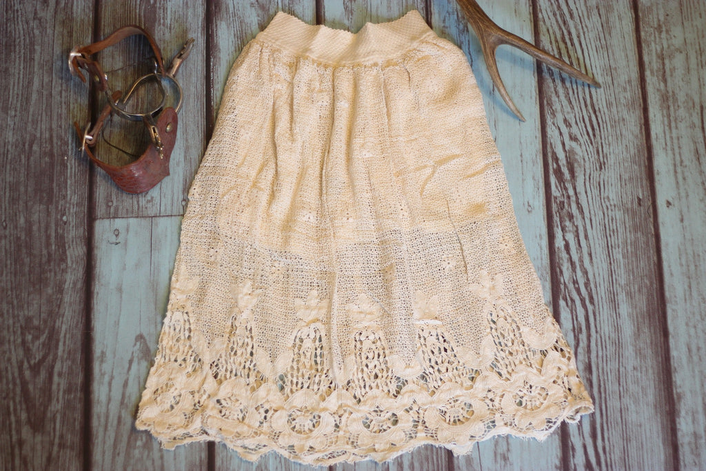 Prairie Rose Skirt - Cream - Saddles & Lace - Pants, Shorts, & Skirts - 1