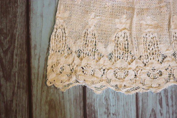 Prairie Rose Skirt - Cream - Saddles & Lace - Pants, Shorts, & Skirts - 4