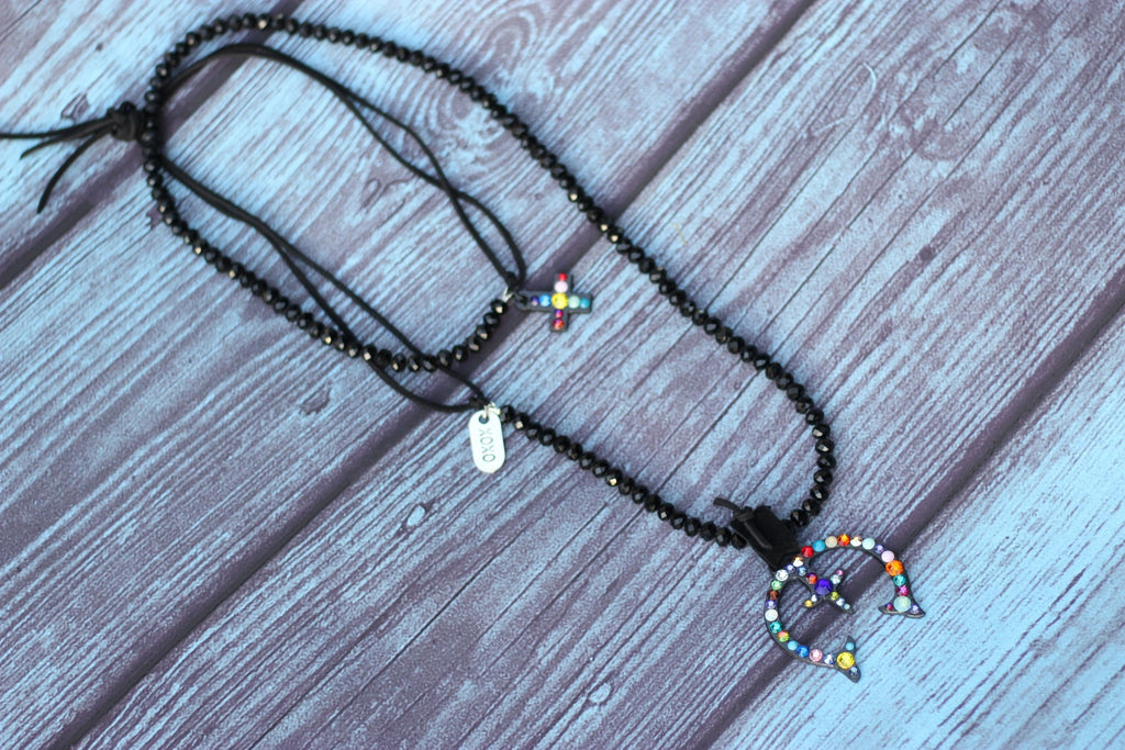 Black Squash Blossom Necklace - Saddles & Lace - New western and southwest inspired clothing, bags, and accessories for women