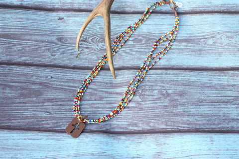 Four Strand's of Faith Necklace - Saddles & Lace Boutique - Western and boho inspired clothing, bags, and accessories for women