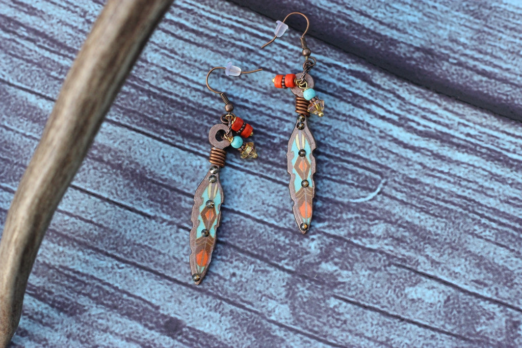 Sonora Feather Earrings - Saddles & Lace - Jewelry