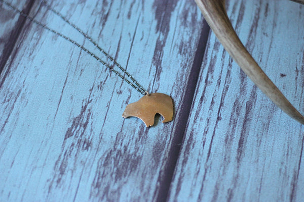 Big Bear Necklace - Saddles & Lace - Jewelry - 1