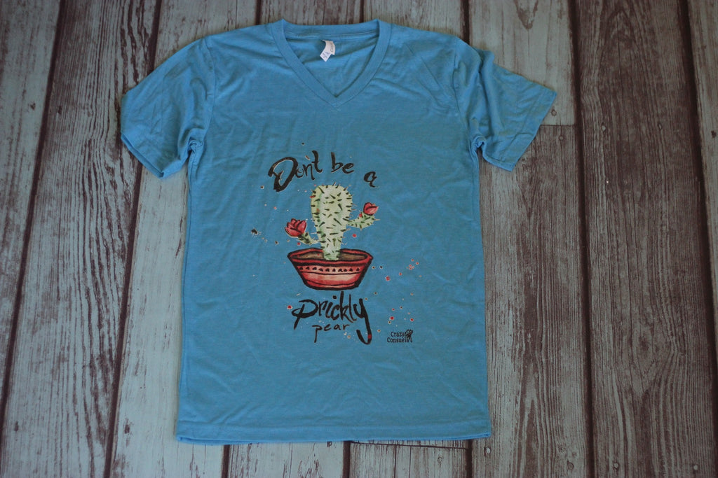 Don't Be A Prickly Pear Tee Shirt - Saddles & Lace - New western and southwest inspired clothing, bags, and accessories for women