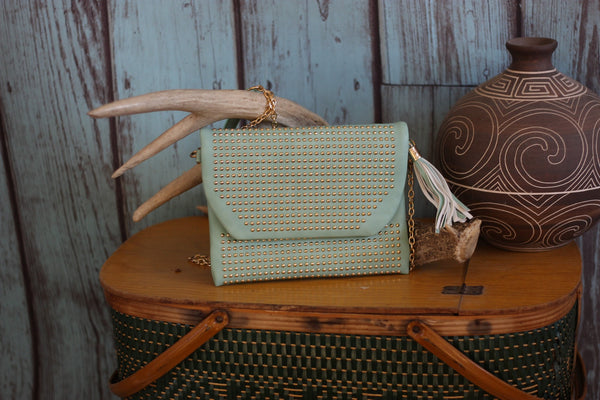 Miss Rodeo Wristlet - Available in Mint & Blush - Saddles & Lace - Purses & Bags - 2