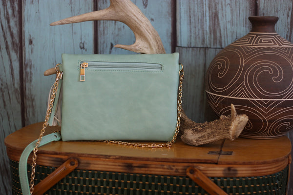 Miss Rodeo Wristlet - Available in Mint & Blush - Saddles & Lace - Purses & Bags - 4