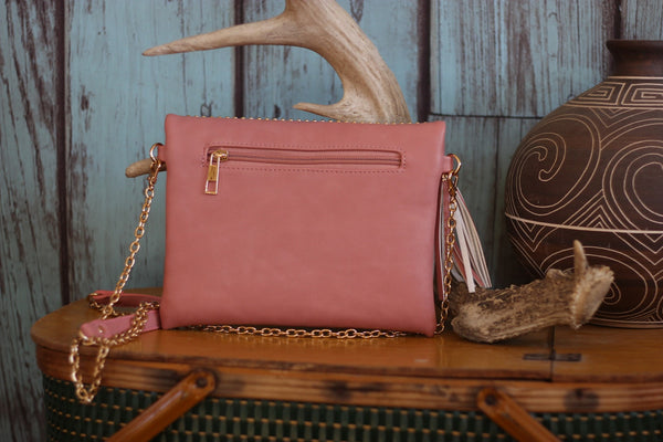 Miss Rodeo Wristlet - Available in Mint & Blush - Saddles & Lace - Purses & Bags - 5