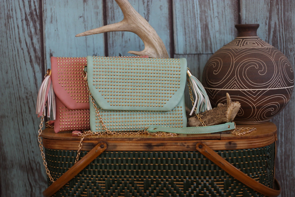 Miss Rodeo Wristlet - Available in Mint & Blush - Saddles & Lace - Purses & Bags - 1