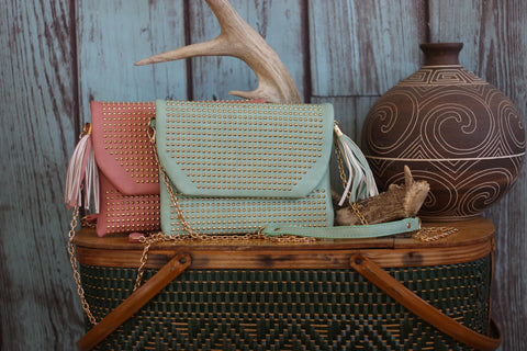 Miss Rodeo Wristlet - Available in Mint & Blush - Saddles & Lace - New western and southwest inspired clothing, bags, and accessories for women