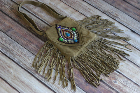 Jessamine Suede Fringe Bag - Saddles & Lace - New western and southwest inspired clothing, bags, and accessories for women