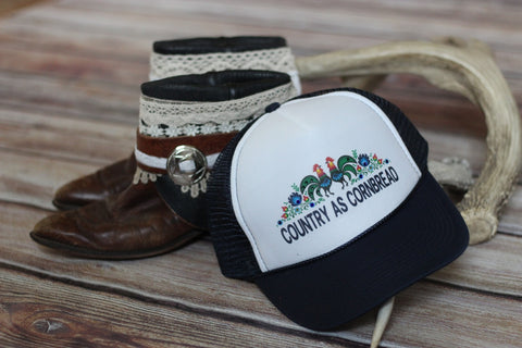 'Country as Cornbread' Ladies Hat - Saddles & Lace - The newest western and southwest inspired clothing, bags, and accessories