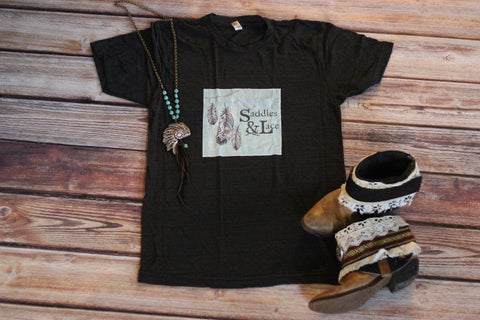 'Living Saddles & Lace - Tee Shirt - Saddles & Lace - New western and southwest inspired clothing, bags, and accessories for women