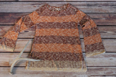 Autumn Comfort Rust Sweater - Saddles & Lace - New western and southwest inspired clothing, bags, and accessories for women