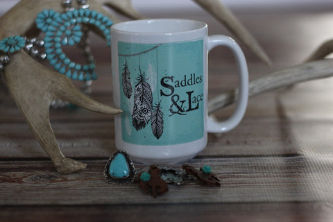 'Saddles & Lace Coffee Mug - Saddles & Lace - New western and southwest inspired clothing, bags, and accessories for women