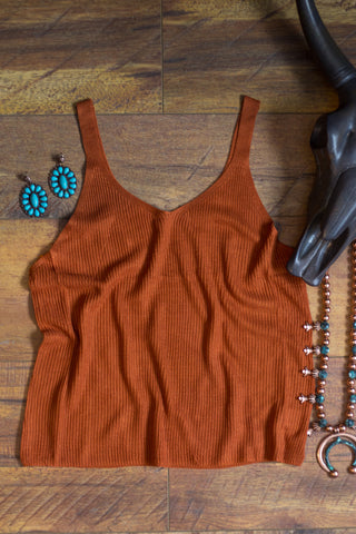 Rust Colored Ribbed Tank