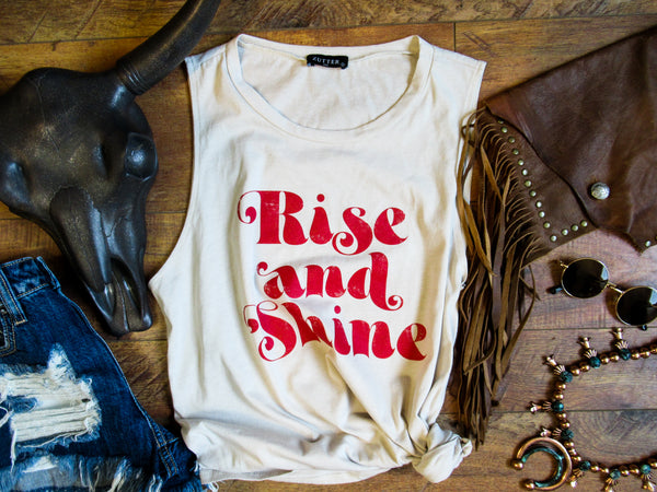 Rise and Shine - Crew Neck Tank